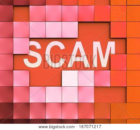 Computer Scam Means Scamming Processor And Fraud