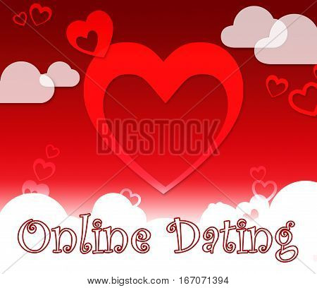 Online Dating Showing Web Site And Dates
