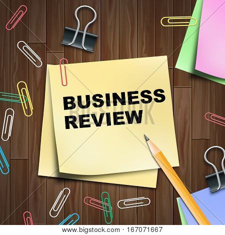 Business Review Shows Trade Reviews 3D Illustration