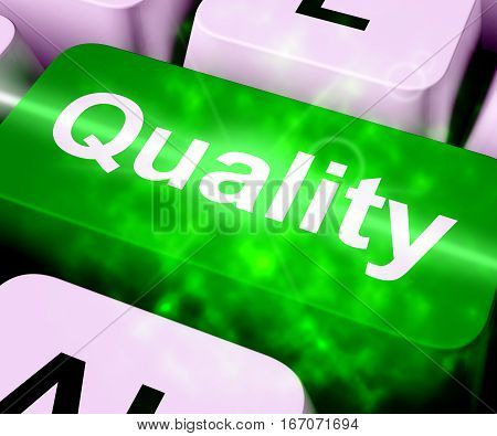 Quality Key Representing Excellent Service 3D Rendering