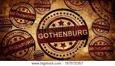 Gothenburg, vintage stamp on paper background