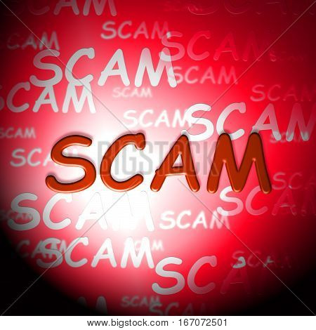 Scam Words Indicating Hoax Deception And Fraud