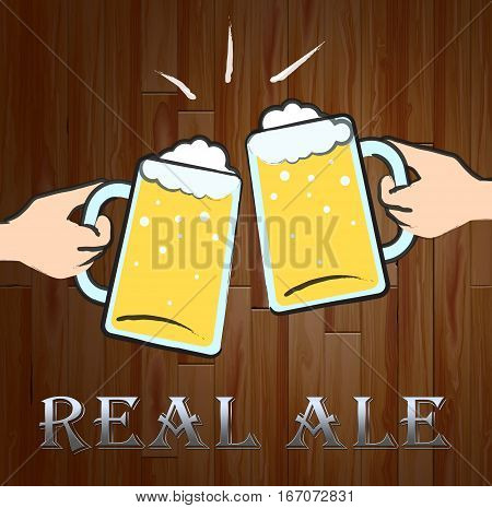 Real Ale Meaning Unfiltered Beer And Hops