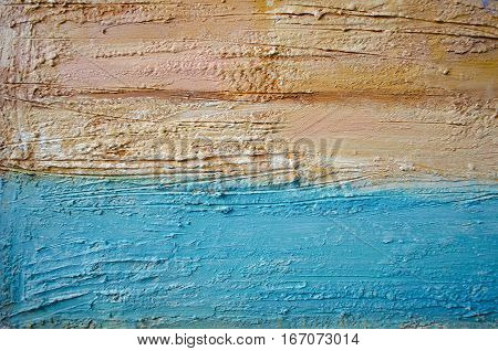 Abstract colorful acrylic painting. Canvas. Grunge background. Brush stroke texture units. Artistic background. Can be used for the interior as part of wall decorations.