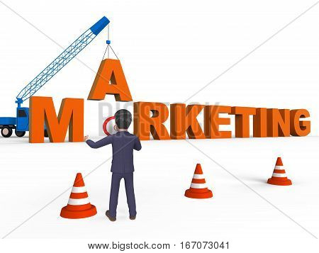 Do Marketing Meaning Seo Sales 3D Rendering