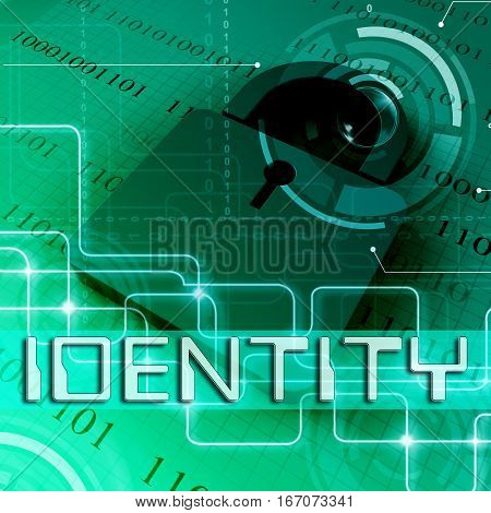 Computer Identity Theft Indicating Online Crime 3D Rendering