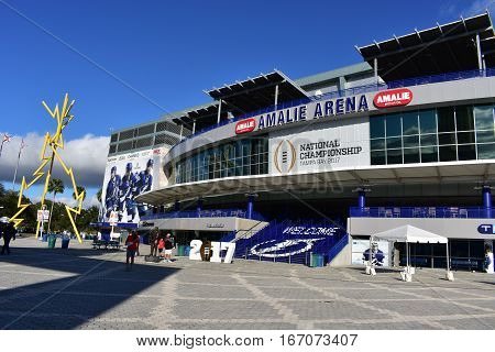 Tampa, Florida - Usa - January 07, 2017: 2017 Amalie Arena