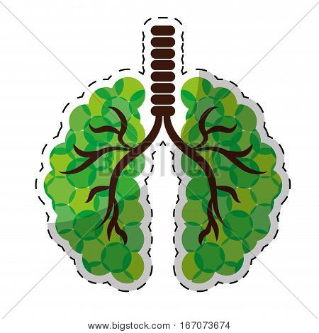 Green lungs of branches image design, vector illustration
