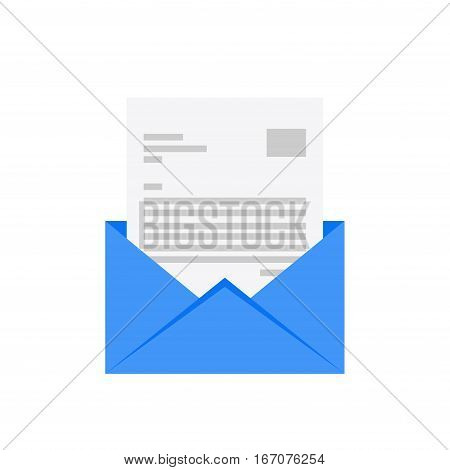 Email icon. E-mail flat design. Mail envelope