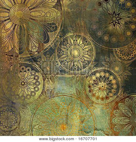 Kunst floral Grunge Hintergrundmuster. um ähnliche einzusehen, besuchen Sie bitte mein Portfolio.