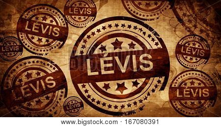 Levis, vintage stamp on paper background