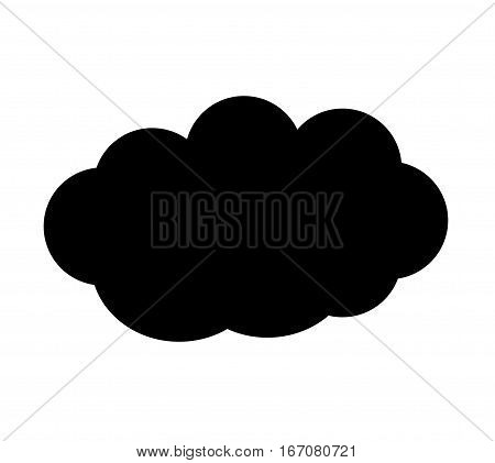 Cloud vector icon isolated over white background single cloud vector illustration