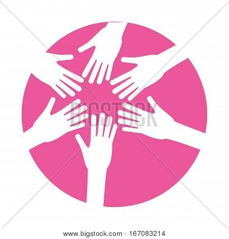 hands feminism related icons image vector illustration design