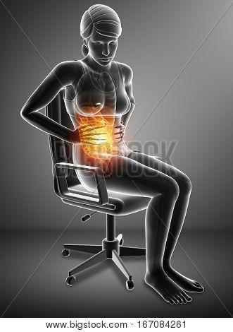 Women Feeling The Stomachache