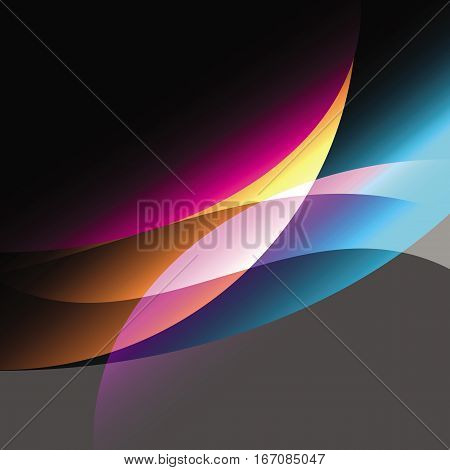 Created colorfull curve abstract background stock vector