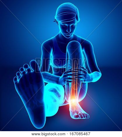 Female Foot With Ankle Pain