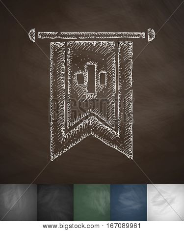 flag icon. Hand drawn vector illustration. Chalkboard Design