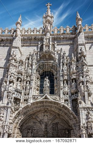 Monastery Jeronimos building, Lisbon city, Portugal architecture