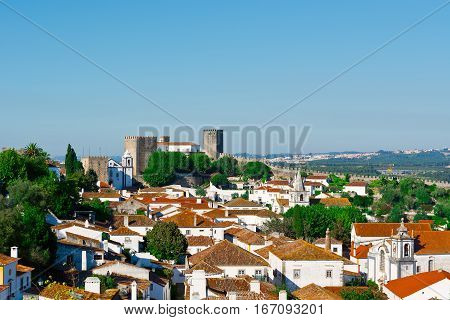 View to Historic Center City of Obidos Portugal