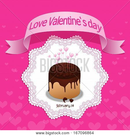 love valentines day sweet chocolate cake, sweet chocolate cake
