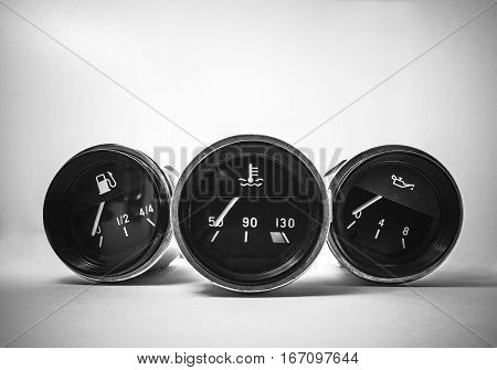 the instrument panel from the old Soviet car