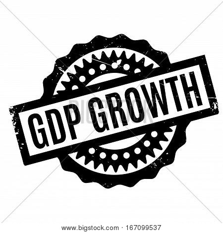 Gdp Growth rubber stamp. Grunge design with dust scratches. Effects can be easily removed for a clean, crisp look. Color is easily changed.