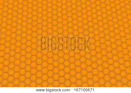 Wall Of Orange Hexagons