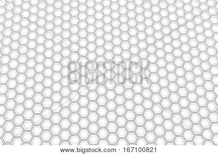 Wall Of White Hexagons