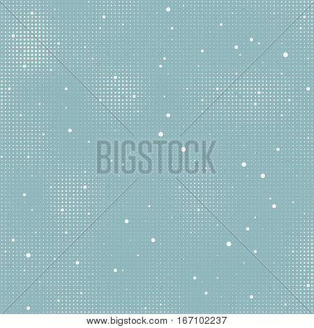 vector halftone winter background pattern with falling snow