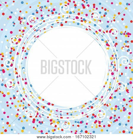 vector colorful background for new year celebration card with confetti lines and curves