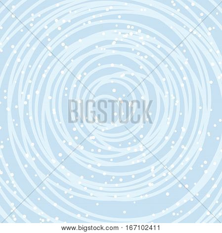 vector background for new year celebration card with round lines and snow