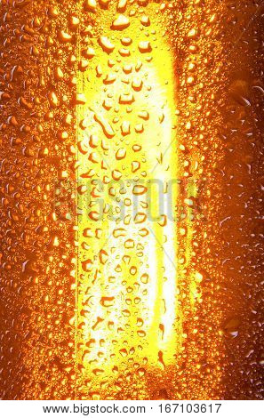 Cold beer. Fresh beer concept. Detail. Beer bottle concept.