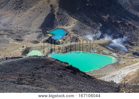 Emerald Lakes Tongariro National Park, New Zealand