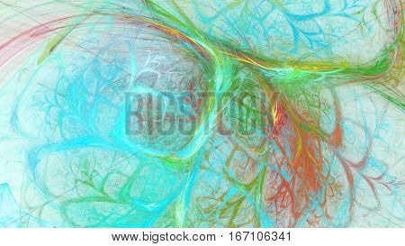 Kaleidoscope sparks. Interweaving branches chaos. 3D surreal illustration. Sacred geometry. Mysterious psychedelic relaxation pattern. Fractal abstract texture. Digital artwork graphic astrology magic