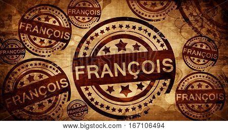 francois, vintage stamp on paper background