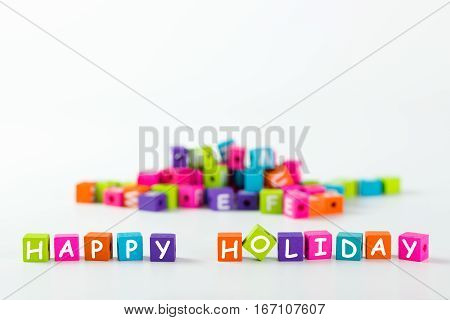 Happy Holiday Word