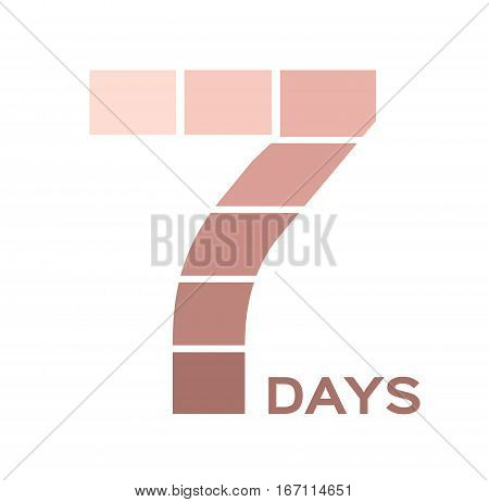 7 days skin whitening cream icon and vector
