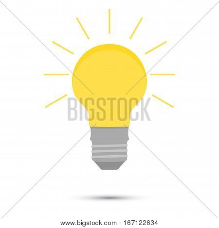 Light idea lamp vector. Concept inspiration creative invention and innovation illustration