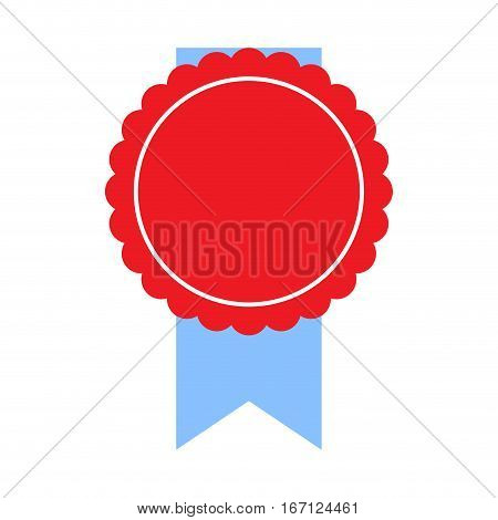 Round sticker with ribbon vector. Label with ribbon vintage. web banner illustration