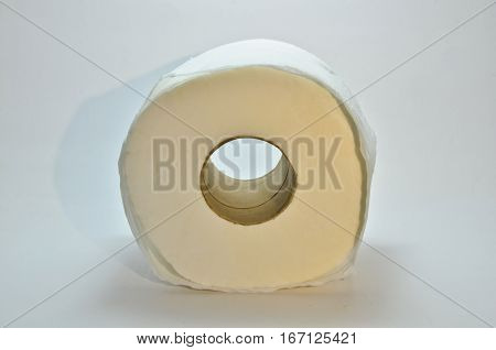 tissue paper roll toilet paper isolated on white background