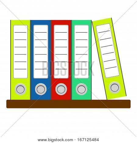 Folders with documents vector. Office storage paper archive with documents illustration of organization paperwork