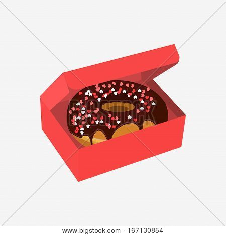 Donut With Sprinkles Isolated On White Background