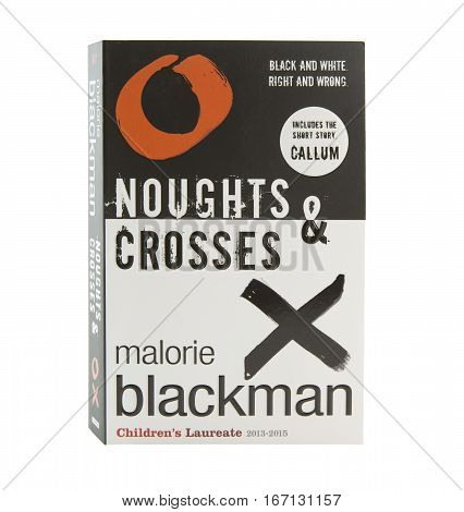 SWINDON UK - JANUARY 28 2017: Noughts And Crosses By Malorie Blackman
