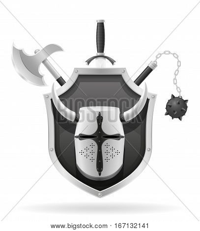 Ancient Battle Weapons Stock Vector Illustration