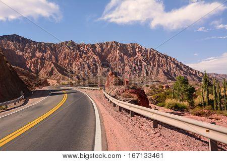 Badlands on RN9 near Maimarà of Jujuy (Argentina)