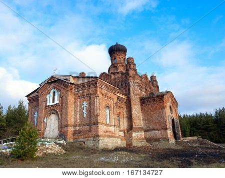 Stone Temple christianity orthodoxy St. Paraskevinsky. Russia