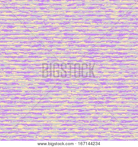 Lilac grey noisy pattern. Striped horizontal vector seamless pattern