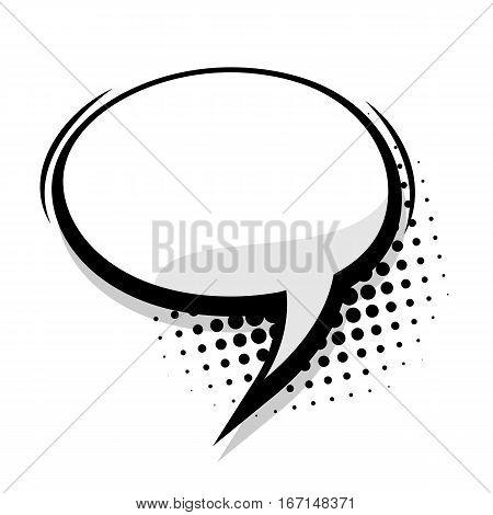 Comics book sketch explosion burst bomb. Blank template comic text speech oval bubble. Halftone dot background style pop art. Dialog empty box space. Creative composition idea conversation.