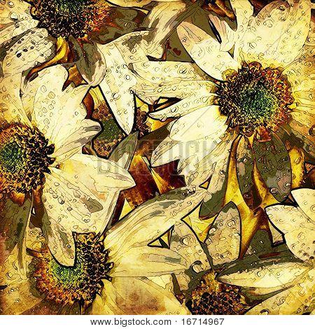 Kunst Blumen Vintage bunten Hintergrund. Um ähnlich zu sehen, bitte besuchen SIE mein PORTFOLIO.