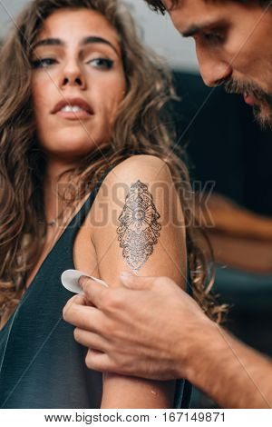Tattoo. Temporary